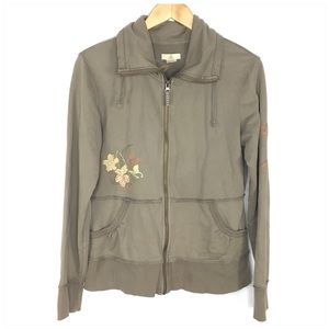 Ascend Embroidered Zip Front Jacket